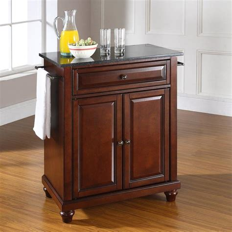 crosley kitchen islands shop crosley furniture brown craftsman kitchen island at