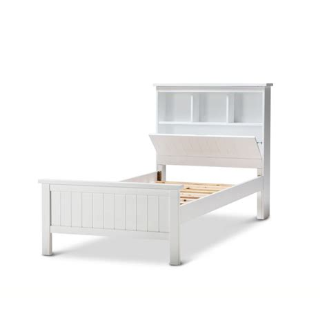 Bedhead And Frame Zony Single Size Bed Frame W Storage Bed White Buy