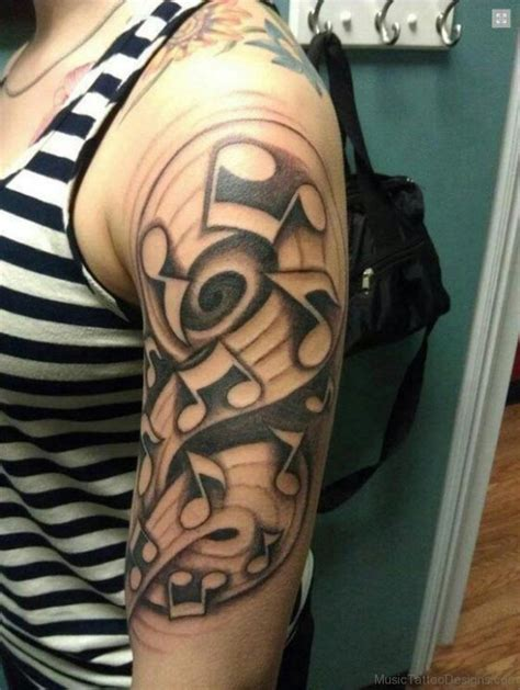 music half sleeve tattoo designs 92 tattoos