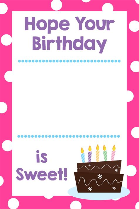 Free Birthday Gift Cards - printable birthday gift card holders crazy little projects