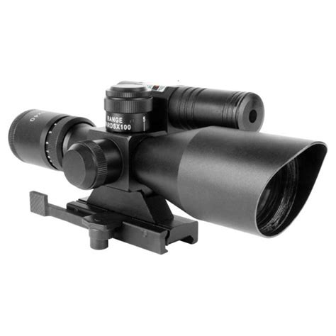 Aim Laser aim sports 2 5 10x40 dual illuminated scope with green laser 580991 rifle scopes and
