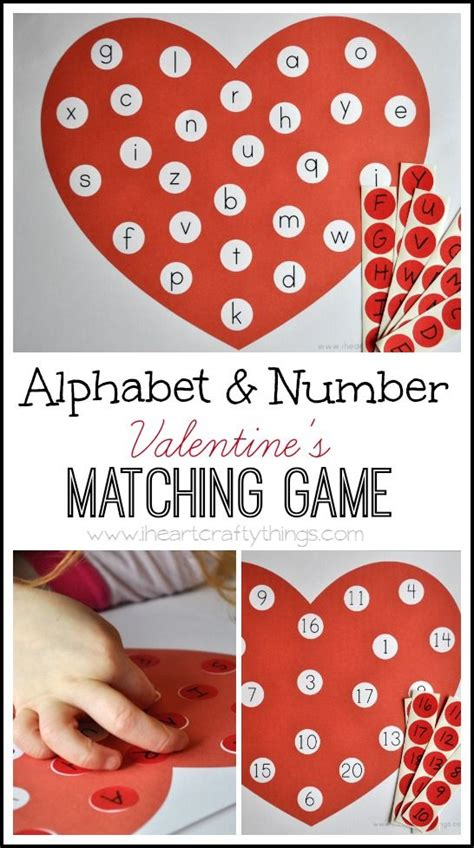 great valentines alphabet and number s matching free
