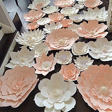 How To Make Paper Flower Backdrop - diy paper flower backdrop set of 30 paper flowers