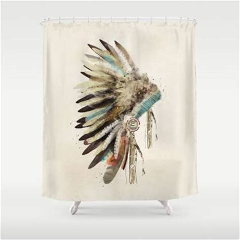 native american curtains native american indian warbonnet design shower curtain