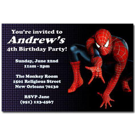 printable birthday invitations spiderman spiderman invitations general prints