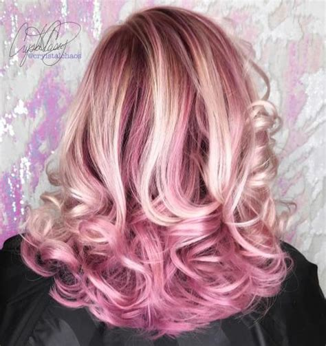 blondehairstyles with redpink in 40 best pink highlights ideas for 2018