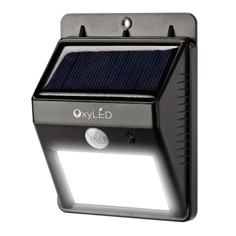 solar outdoor motion lights oxyled sl30 bright outdoor led light solar powered