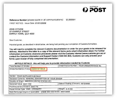 Gst Release Letter The 1 Australia Post Customs Broker Save Time Money Hassle