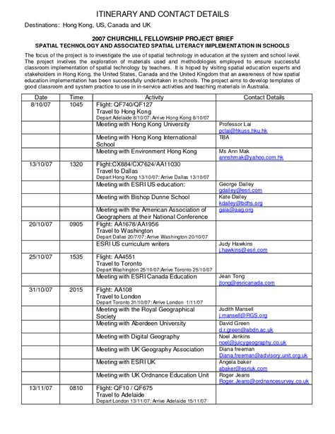 business itinerary template best photos of business itinerary template business