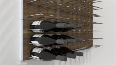 stact modular wall mounted wine rack system commercial