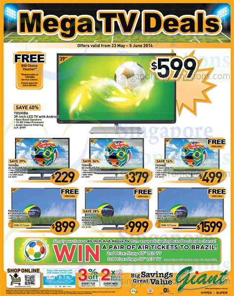 Tv Led Hypermart toshiba led tvs 187 hypermarket tvs groceries other offers 23 may 5 jun 2014