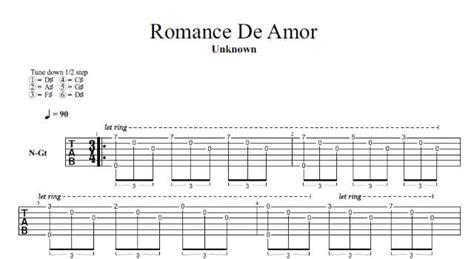 tutorial guitar romance de amor romance de amor jeux interdits guitar pro tab best