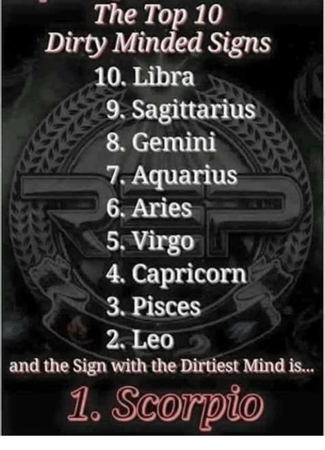 top  dirty minded signs  libra  sagittarius  gemini  aquarius  aries  virgo