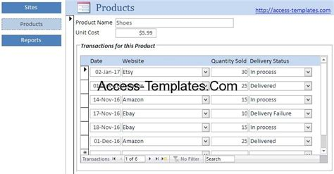 Ecommerce Inventory Management Software For Microsoft Access Templates Access Database And Access Inventory Management Templates