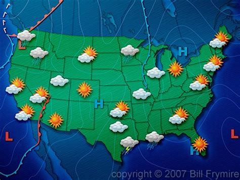 the weather map of the united states united states weather map