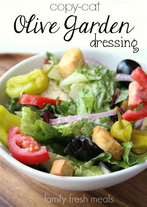 Garden Salad Recipe Ideas Copycat Olive Garden Salad Dressing Recipe Family Fresh Meals