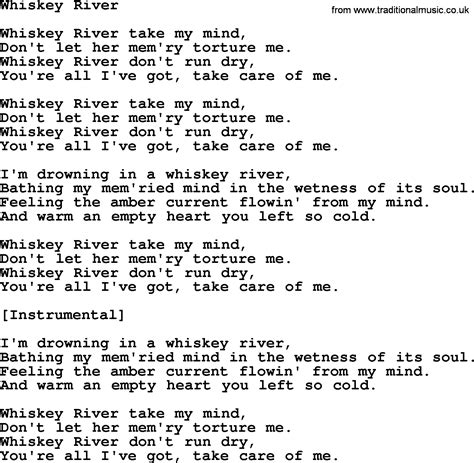 song lyrics willie nelson willie nelson song whiskey river lyrics