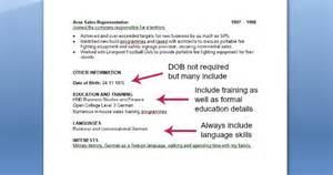 cv exle cv template on target recruitment