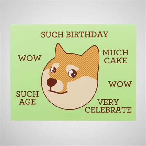 Doge Birthday Card Greeting Cards Coinjar Store