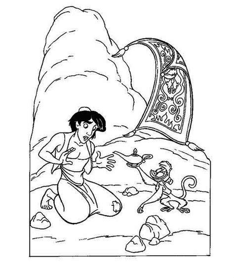 abu  aladdin   magic lamp coloring page