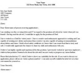 Application Letter For Being A Chef Chef Cover Letter Sample Lettercv Com