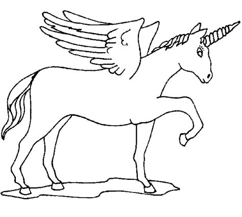 Coloring Page Unicorn With Wings by Coloring Unicorn With Wings Picture