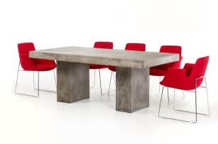 Concrete Dining Room Table by Modrest Saber Modern Concrete Dining Table