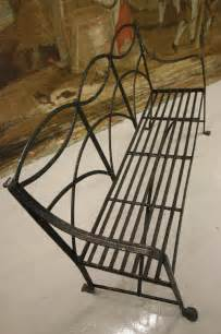 antique wrought iron garden bench antiques atlas regency antique wrought iron garden bench