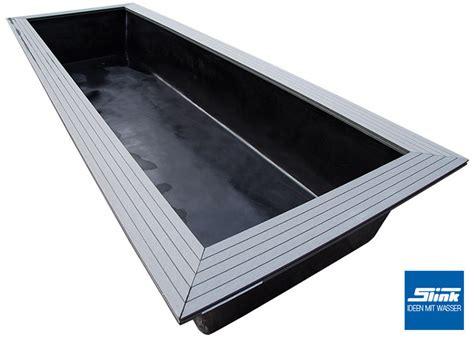 feuerstelle rechteckig gfk wasserbecken fertigteich rechteckig 200 x 100 x 40 cm