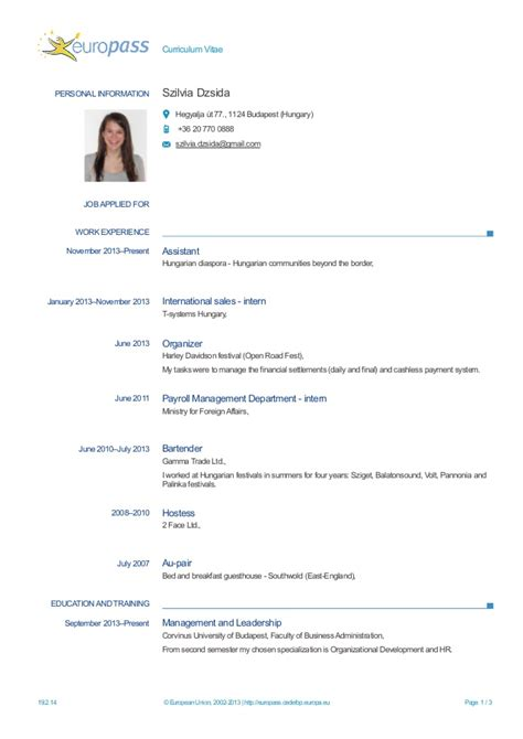 cv internship template cv apprenticeship or internship placement wanter