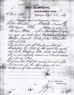 Ohio Civil Search Shields Of Ohio Civil War Records