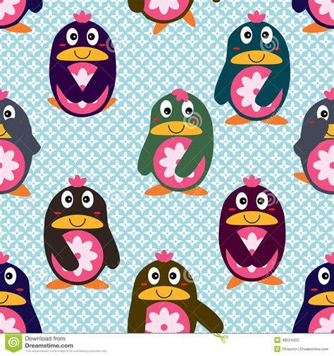 cute japanese pattern penguin japan cute seamless pattern stock vector image