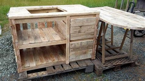 pallet kitchen island and breakfast table 101 pallets