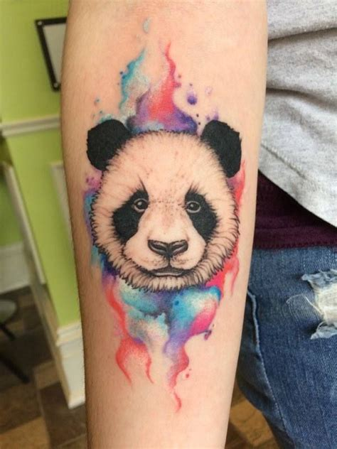watercolor tattoos ontario panda done with watercolour prestige tattoos by