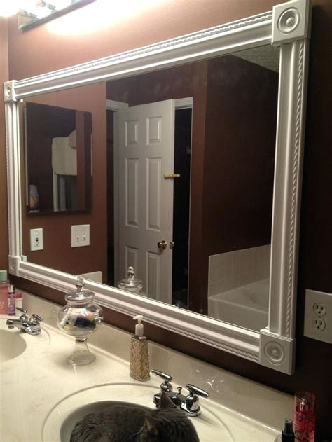 pinterest bathroom mirror ideas painted mirror frame ideas vanity mirror frame ideas