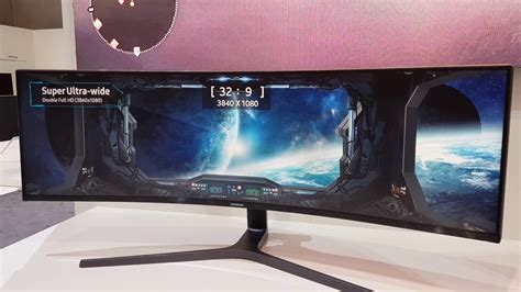 samsung chg90 49 quot qled gaming monitor on at ifa 2017 4k uhd
