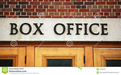 Theater Box Office by Theater Box Office Sign Royalty Free Stock Photography