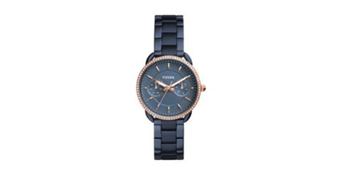 Fossil Boyfriend Multifunction Blue Stainless Steel Es4093 tailor multifunction blue stainless steel fossil