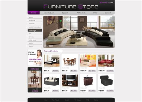 free professional collecton of e commerce website templates