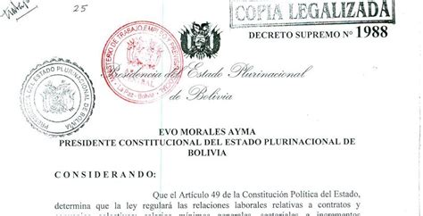 decreto municipal de incremento salarial bolivia ds de incremento salarial 2014 qu 233 novedades trae