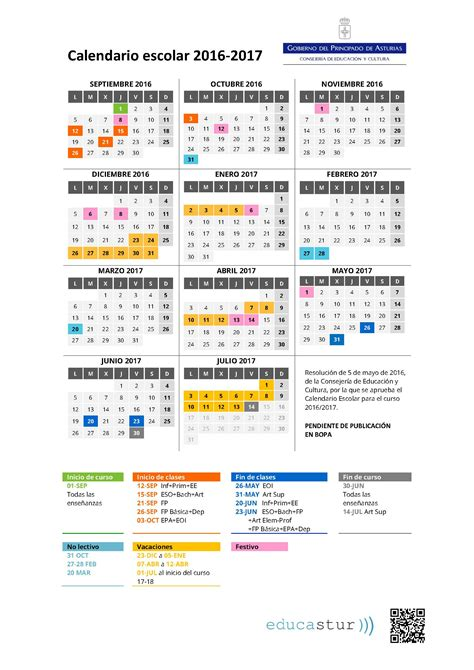 Calendario Escolar Sep 2016 Calendario Escolar 2016 2017 A Ceip Enrique Alonso