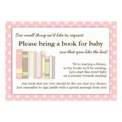 bring book instead of card to baby shower baby shower bring a book insert invitations ideas