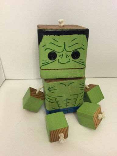 hulk wood toy natural wood wood robot diy toy