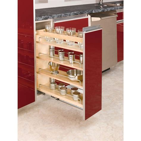 Kitchen Cabinet Storage Bins Rev A Shelf 25 48 In H X 8 19 In W X 22 47 In D Pull Out Wood Base Cabinet Organizer 448 Bc