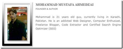 contoh biography myself membuat halaman quot about us quot terlihat profesional blogger