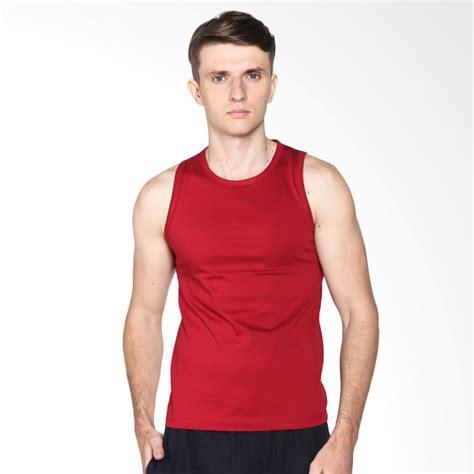 Kaos Singlet Polos jual vm polos katun kaos singlet merah maroon