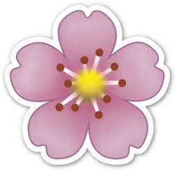 quot pink flower emoji quot stickers by brogy2323 redbubble