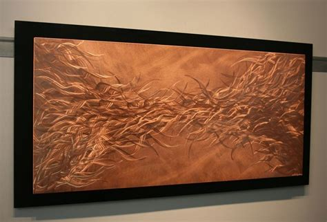 copper wall art home decor electric fields in copper metal wall art