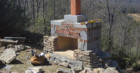 How To Build An Outdoor Fireplace Casual Cottage How To Build An Outdoor Fireplace Casual Cottage