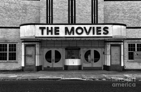 Home Theatre Wall Decor the movies black and white photograph by paul ward